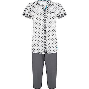 Pastunette 2071-361-6-971 Women's Slate Grey Spotty Cotton Pyjama Set