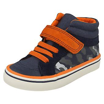 Boys First Shoes By Clarks Hi-Top Trainers Juggle Sam