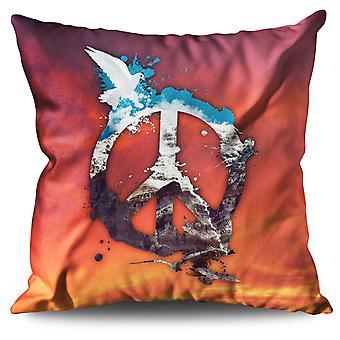 Peace Pigeon Cool Linen Cushion 30cm x 30cm | Wellcoda