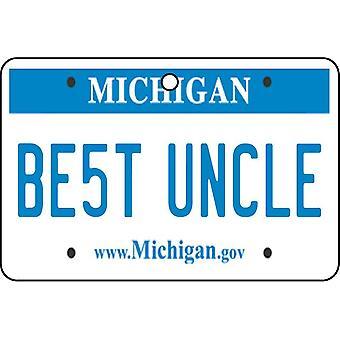 Michigan - Best Uncle License Plate Car Air Freshener