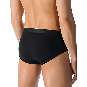 Mey 49012-123 Men's Casual Cotton Black Solid Colour Brief