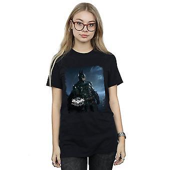 DC Comics Women's Batman Arkham Knight Poster Distressed Boyfriend Fit T-Shirt
