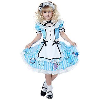 Deluxe Alice im Wunderland Märchen Bilderbuch Buch Woche Dress Up Mädchen Kostüm