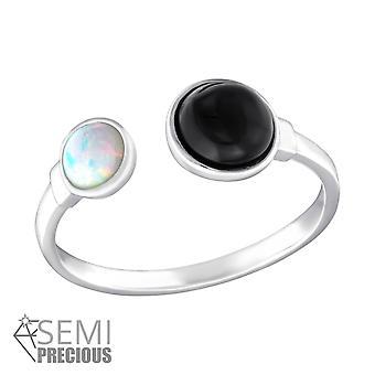 Doble redondo - Jewelled de plata de ley 925 anillos - W36582X