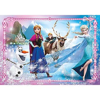 Frozen Jewels Jigsaw Puzzle (104 Pieces) with Gem Stickers