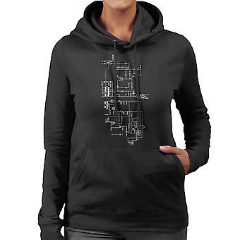 PlayStation 1 ordinateur schématique femmes s Hooded Sweatshirt