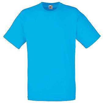 Fruit de la Loom Mens Valueweight plaine couleurs manches courtes T-Shirt en coton