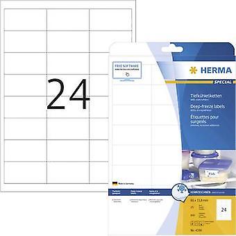 Herma 4389 etiquetas 66 x 33.8 mm papel blanco 600 PC congelador permanente etiquetas de inyección de tinta, láser, copiadora