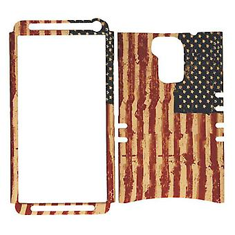 Unlimited Cellular Rocker Series Snap-On for HTC One Max - Distressed USA Flag