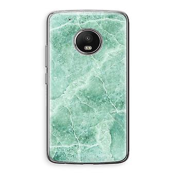 Motorola Moto G5 boîtier Transparent (doux) - marbre vert