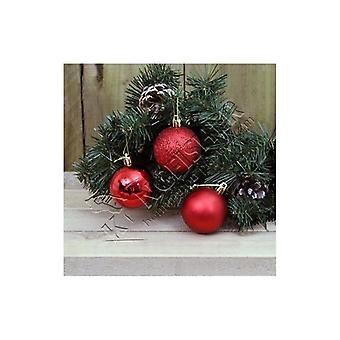 Kingfisher 18 Pack 5cm Red Baubles Christmas Xmas Tree Festive Decorations