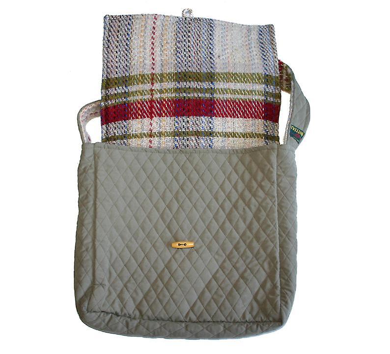 Sage Quilted & Laine Shoulder Bag Recyclé aléatoire