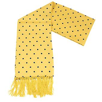 Knightsbridge Neckwear Polka Dot Dress Scarf - Yellow/Navy