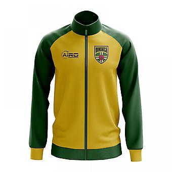 Dominica käsite jalkapallo Track Jacket (keltainen)