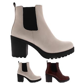 Womens Vagabond Grace Block Heel Closed Toe Elastic Fashion Ankle Boots