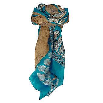 Mulberry Silk Classic Square Scarf Zahra Blue by Pashmina & Silk