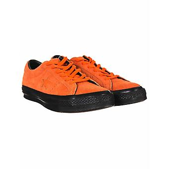 Converse One Star Ox Trainers - Orange Tiger