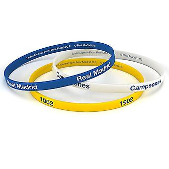 Real Madrid FC Official Silicone Wristbands (Pack Of 3)