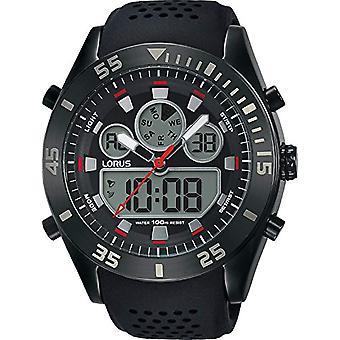 Analog digital Watch LORUS kvarts män med silikon rem R2335LX9
