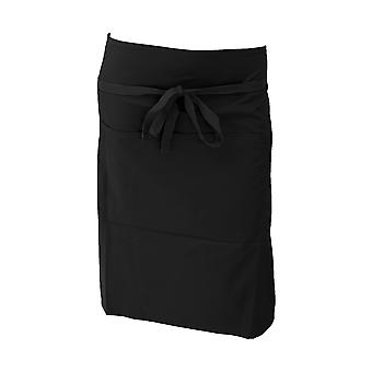 Dennys Ladies/Womens Polycotton Waist Workwear Apron With Pocket