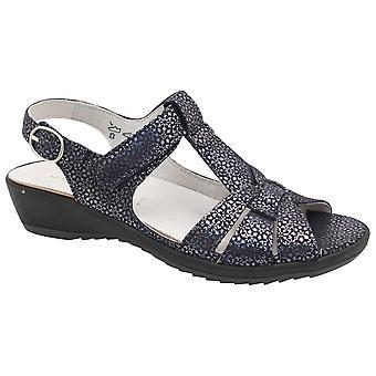 Waldläufer Women's T- Bar Adjustable Strap Sandal