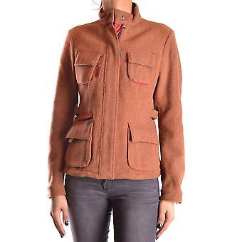Brema Ezbc146002 Women's Orange Wool Outerwear Jacket