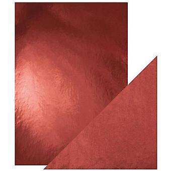 Craft Perfect Tonic Studios A4 Mirror Card High Gloss Opera Red Pack of 5