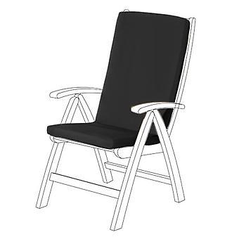 Gardenista® musta vedenpitävä highback istuin pad puutarha tuoli, pakkaus 6
