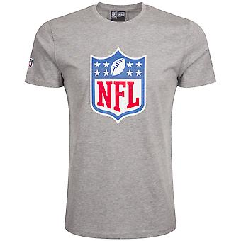 New Era Basic paita-NFL Shield logo harmaa