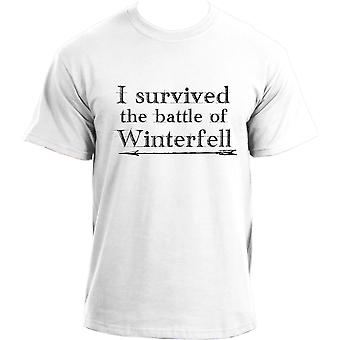 I Survived The Battle Of Winterfell Geek Tv Show GOT Inspired T-shirt