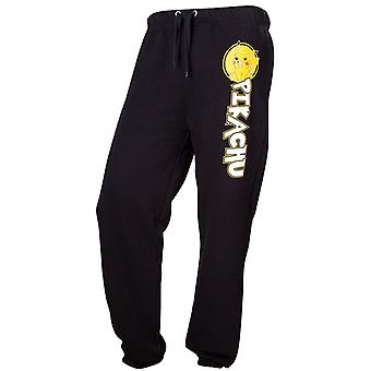 Black Pokemon Pikachu Character Adult Lounge/ Jogging Pants