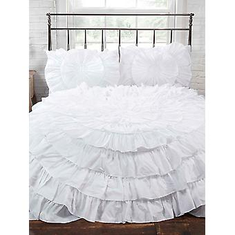 Naya Ruffle Duvet Cover and Pillowcase Set