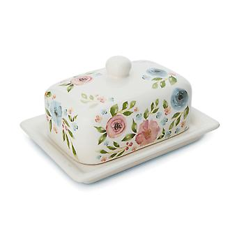 Cooksmart Country Floral Butter Dish
