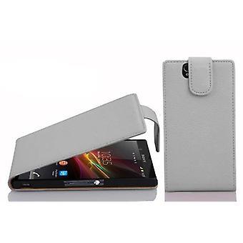 Cadorabo Hülle für Sony Xperia Z Case Cover - Handyhülle im Flip Design aus strukturiertem Kunstleder - Case Cover Schutzhülle Etui Tasche Book Klapp Style