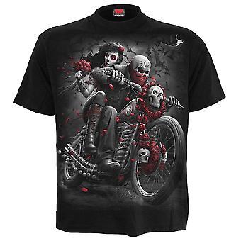 スパイラル - ドットバイカー - メン&アポス;s黒半袖Tシャツ