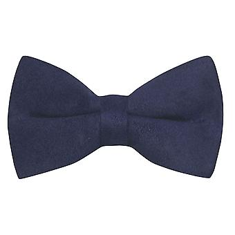 Luxury Navy Blue Suede Bow Tie