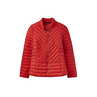 Joules Elodie Womens Chevron Quilted Jacket - Red