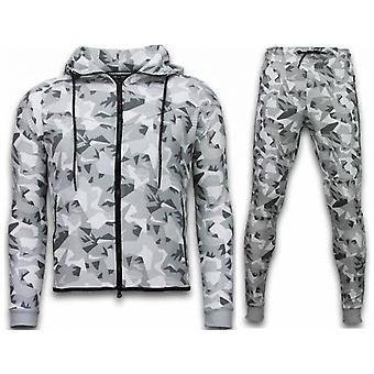 Windrunner Camo Tracksuits - Camouflage Jogging Suit - White