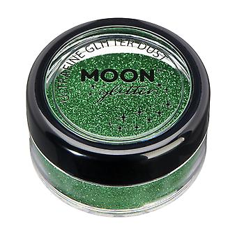 Classic Ultrafine Glitter Dust by Moon Glitter – 100% Cosmetic Glitter for Face, Body, Nails, Hair and Lips - 5g - Green