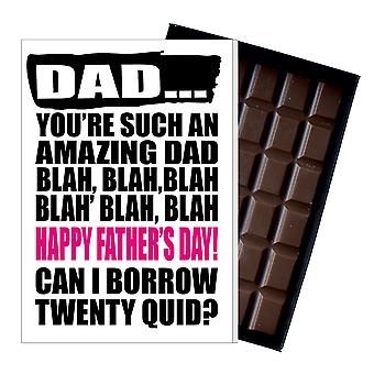 Funny Father's Day Gift Silly Chocolate Present Rude Card For Dad DADIYF121