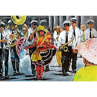 Tanzen in den Straßen Mardi Gras Stoff Placemat