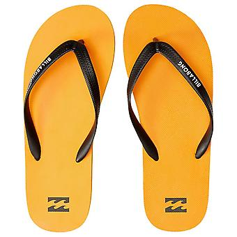 Billabong Mens Flip Flops - Tides Orange solide