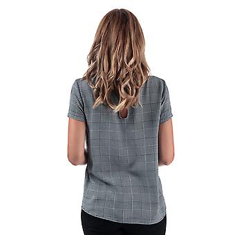Womens Only First Check Print Top In Cloud Dancer