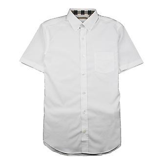 Burberry Cambridge manica corta Camicia Bianco