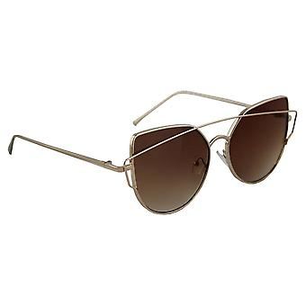 Sunglasses UV 400 Cat Eye Gold BruinHL149_4
