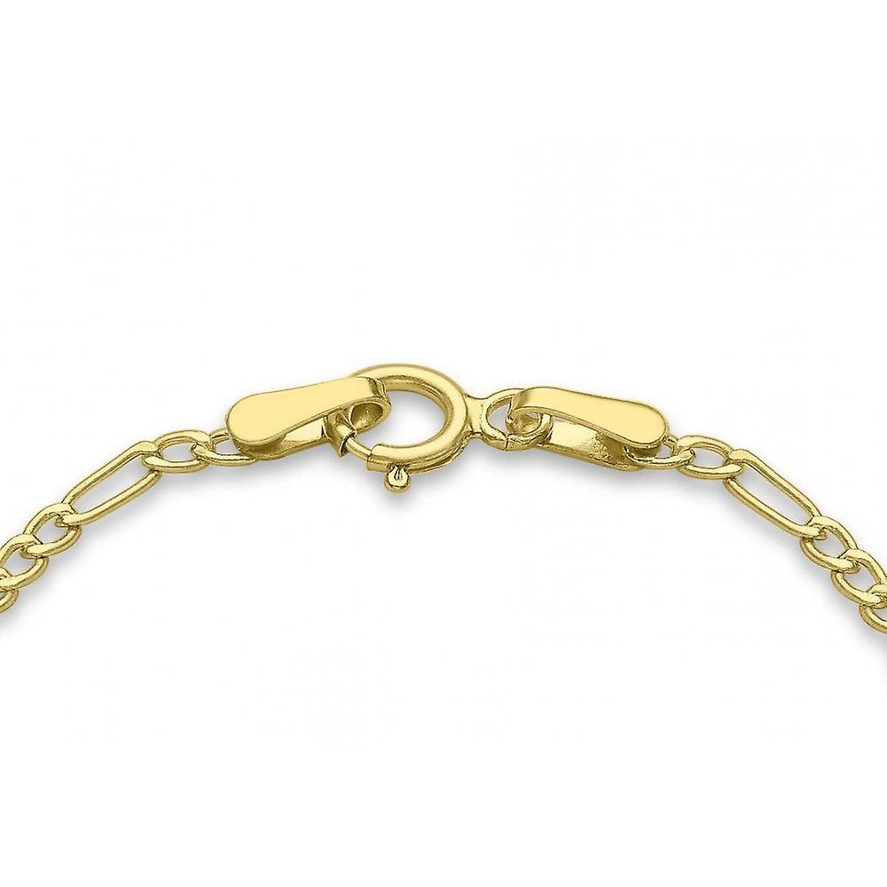 Eternity 9ct Gold Kids 3+1 Figaro Identity Bracelet
