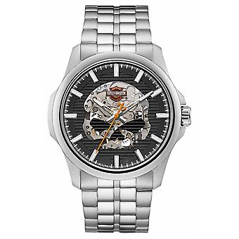 Harley Davidson Mens Willie G Skull Stainless Steel Bracelet 76A158 Watch