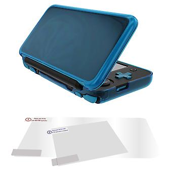 Protective case & screen protector set for 2ds xl (new nintendo) flexi gel cover ? blue