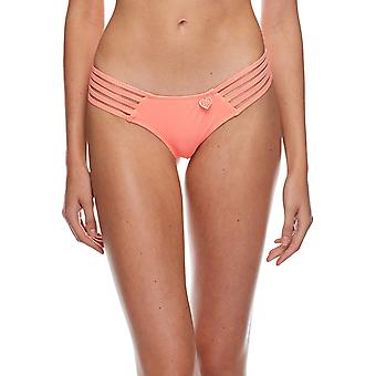 Body Glove Women's Smoothies Amaris Solid Cheeky Coverage, Splendid, Size Medium