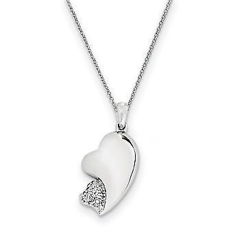 925 Sterling Argent Poli Cadeau Encadré Anneau de printemps Rhodium plaqué CZ Cubic Zirconia Simulated Diamond My Beloved Friend